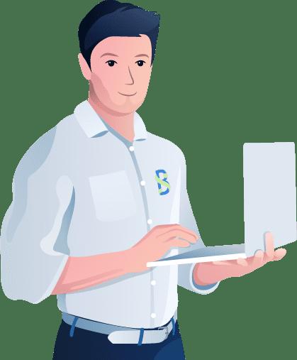 illustration-man-computer-white